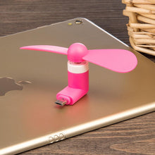 Load image into Gallery viewer, Micro USB Compatible Devices Mini Cooler Fan - Pink