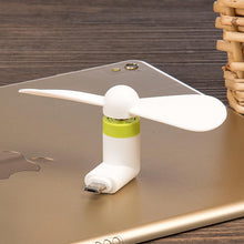 Load image into Gallery viewer, Micro USB Compatible Devices Mini Cooler Fan - White