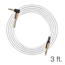 Load image into Gallery viewer, 3.5mm Right Angle Stereo Auxiliary Cable 3 ft. - White
