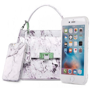 Marble IMD Soft TPU Protective Case - White