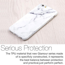 Load image into Gallery viewer, Marble IMD Soft TPU Protective Case - White for iPhone 6 Plus