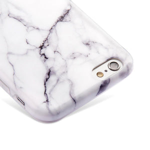 Marble IMD Soft TPU Protective Case - White for iPhone 6 Plus