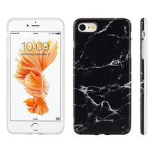 Load image into Gallery viewer, Marble IMD Soft TPU Protective Case - Black for iPhone 7