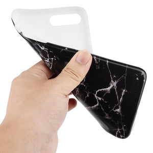 Marble IMD Soft TPU Protective Case - Black for iPhone 7