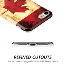 Load image into Gallery viewer, Patriotic Vintage Flag Series IMD Soft TPU Protective Case - Canada for iPhone 7, iPhone SE 2020