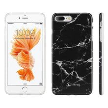 Load image into Gallery viewer, Marble IMD Soft TPU Protective Case - Black for iPhone 7 Plus