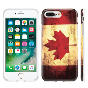 Patriotic Vintage Flag Series IMD Soft TPU Protective Case - Canada for iPhone 7 Plus