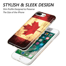 Load image into Gallery viewer, Patriotic Vintage Flag Series IMD Soft TPU Protective Case - Canada for iPhone 7 Plus