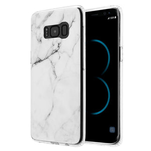 Marble IMD Soft TPU Protective Case - White for Samsung Galaxy S8 Plus