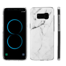 Load image into Gallery viewer, Marble IMD Soft TPU Protective Case - White for Samsung Galaxy S8 Plus