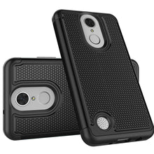 Load image into Gallery viewer, Grippy Hybrid Shockproof Protective Case for LG LV3/ Aristo/ K8 2017 / LG Aristo MS210 - Black/ Black