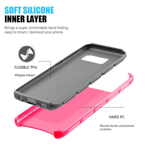 Hybrid Glossimer UV Coating Protective Case - Hot Pink for Samsung Galaxy S8 Plus for Samsung Galaxy S8 Plus