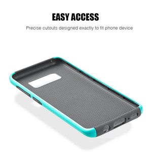 Hybrid Glossimer UV Coating Protective Case - Teal for Samsung Galaxy S8 Plus for Samsung Galaxy S8 Plus