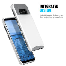 Load image into Gallery viewer, Hybrid Glossimer UV Coating Protective Case - White for Samsung Galaxy S8 Plus for Samsung Galaxy S8 Plus