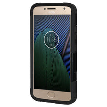 Load image into Gallery viewer, AMZER Dual Layer Hybrid KickStand Case - Black/ Black for Motorola Moto G5 Plus