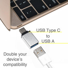 Load image into Gallery viewer, USB Type C to USB Type A Adapter - Silver