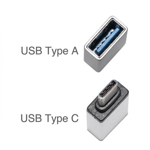 USB Type C to USB Type A Adapter - Silver