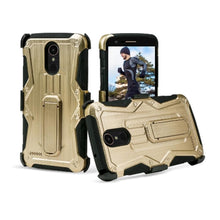 Load image into Gallery viewer, Heavy Duty Shockproof Extreme Protective Cover With Holster - Black/ Gold for LG Stylus 3/ LG Stylo 3 for LG K10 Pro LGM400DF