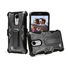 Load image into Gallery viewer, Heavy Duty Shockproof Extreme Protective Cover With Holster - Black/ Black for LG LV3/ LG K8 2017/ LG Aristo MS210 for LG Aristo MS210