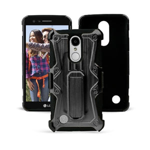 Heavy Duty Shockproof Extreme Protective Cover With Holster - Black/ Black for LG LV3/ LG K8 2017/ LG Aristo MS210 for LG Aristo MS210