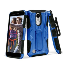 Load image into Gallery viewer, Heavy Duty Shockproof Extreme Protective Cover With Holster - Black/ Blue for LG LV3/ LG K8 2017/ LG Aristo MS210 for LG Aristo MS210