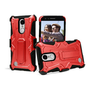 Heavy Duty Shockproof Extreme Protective Cover With Holster - Black/ Red for LG LV3/ LG K8 2017/ LG Aristo MS210 for LG Aristo MS210