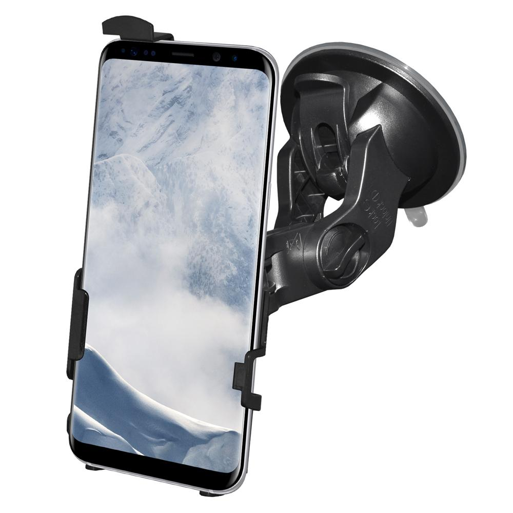 AMZER Suction Cup Mount for Windshield, Dash or Console for Samsung Galaxy S8 Plus