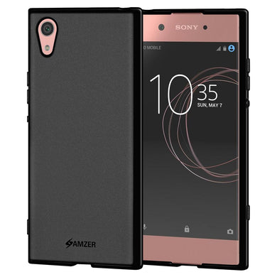 AMZER Pudding TPU Case - Black for Sony Xperia XA1