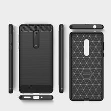 Load image into Gallery viewer, AMZER Shockproof Pudding TPU Skin Case for Nokia 5 - Black