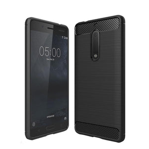 AMZER Shockproof Pudding TPU Skin Case for Nokia 5 - Black