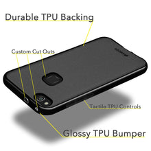 Load image into Gallery viewer, AMZER Pudding TPU Case - Black for Huawei P10 Lite