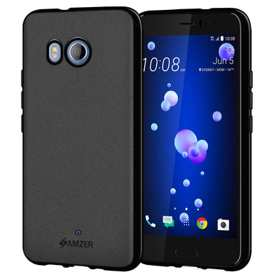 AMZER Pudding TPU Case - Black for HTC U11