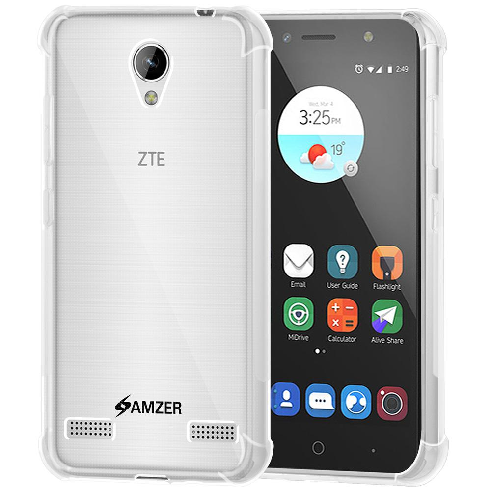 AMZER Pudding TPU X Protection Case - Crystal Clear for ZTE Blade A520