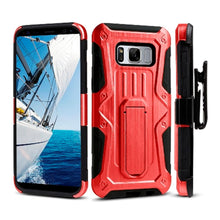 Load image into Gallery viewer, Heavy Duty Shockproof Extreme Protective Cover With Holster - Black/ Red for Samsung Galaxy S8 Plus for Samsung Galaxy S8 Plus