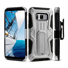 Load image into Gallery viewer, Heavy Duty Shockproof Extreme Protective Cover With Holster - Black/ Silver for Samsung Galaxy S8 Plus for Samsung Galaxy S8 Plus