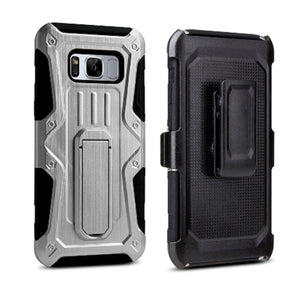 Heavy Duty Shockproof Extreme Protective Cover With Holster - Black/ Silver for Samsung Galaxy S8 Plus for Samsung Galaxy S8 Plus