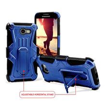 Load image into Gallery viewer, Heavy Duty Shockproof Extreme Protective Cover With Holster - Black/ Blue for Samsung Galaxy Amp Pri for Samsung Galaxy Amp Prime 2 SM-J120A
