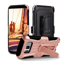 Load image into Gallery viewer, Heavy Duty Shockproof Extreme Protective Cover With Holster - Black/ Rose Gold for Samsung Galaxy S8 for Samsung Galaxy S8