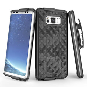 AMZER Shellster Hard Case With Kickstand for Samsung Galaxy S8 - Black