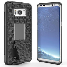 Load image into Gallery viewer, AMZER Shellster Hard Case With Kickstand for Samsung Galaxy S8 - Black