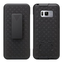 Load image into Gallery viewer, AMZER Shellster Hard Case  Belt Clip Holster for Samsung Galaxy S8 Plus - Black