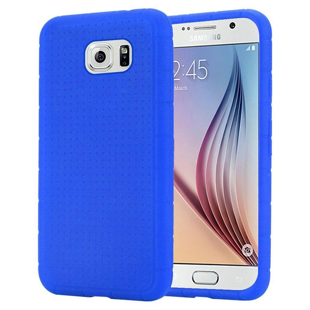 Rugged Silicone Case - Dark Blue for Samsung Galaxy S6 SM-G920F