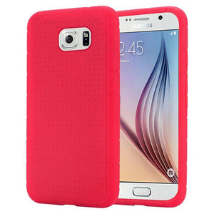 Rugged Silicone Case - Hot Pink for Samsung Galaxy S6 SM-G920F