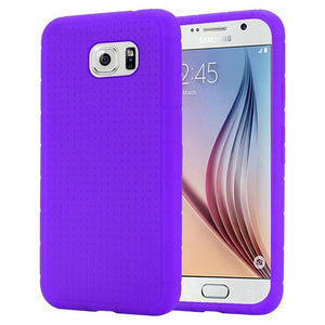 Rugged Silicone Case - Purple for Samsung Galaxy S6 SM-G920F
