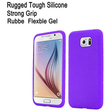 Load image into Gallery viewer, Rugged Silicone Case - Purple for Samsung Galaxy S6 SM-G920F