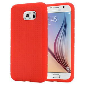 Rugged Silicone Case - Red for Samsung Galaxy S6 SM-G920F