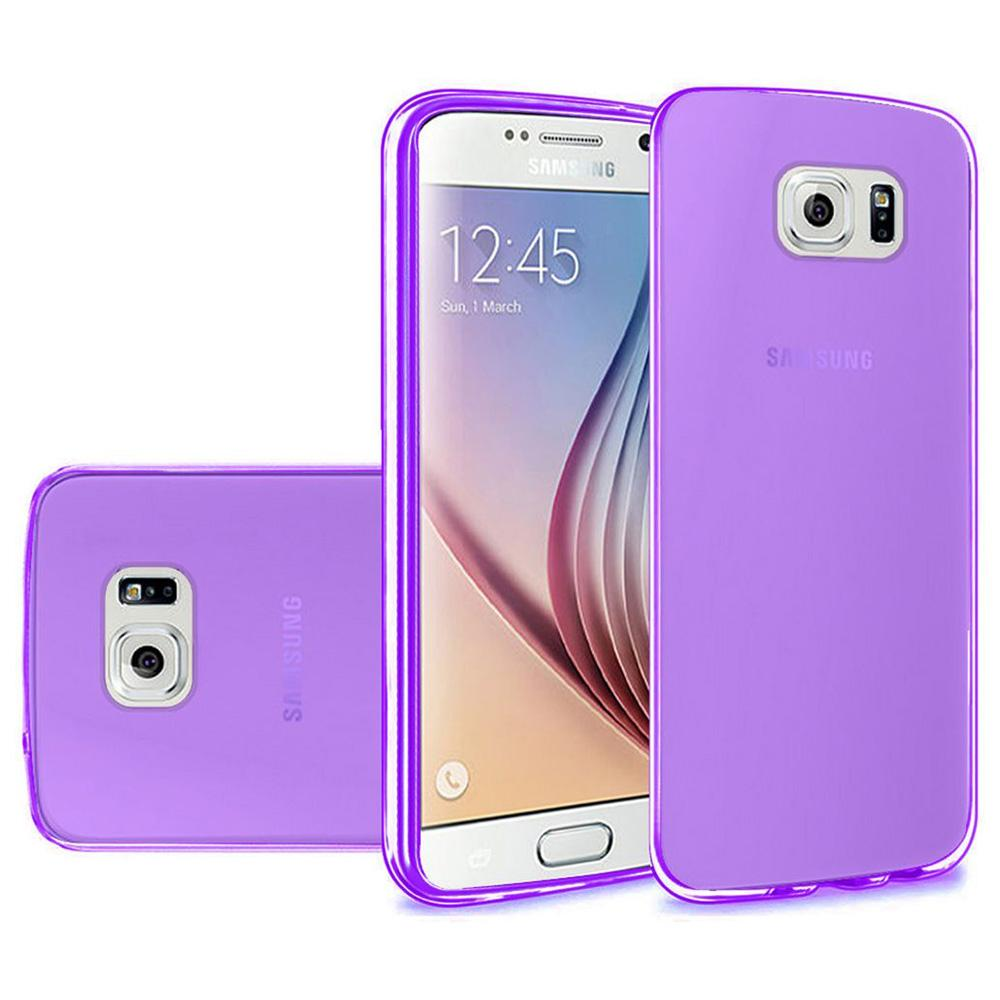 Frosted Matte TPU Case - Purple for Samsung Galaxy S6 SM-G920F