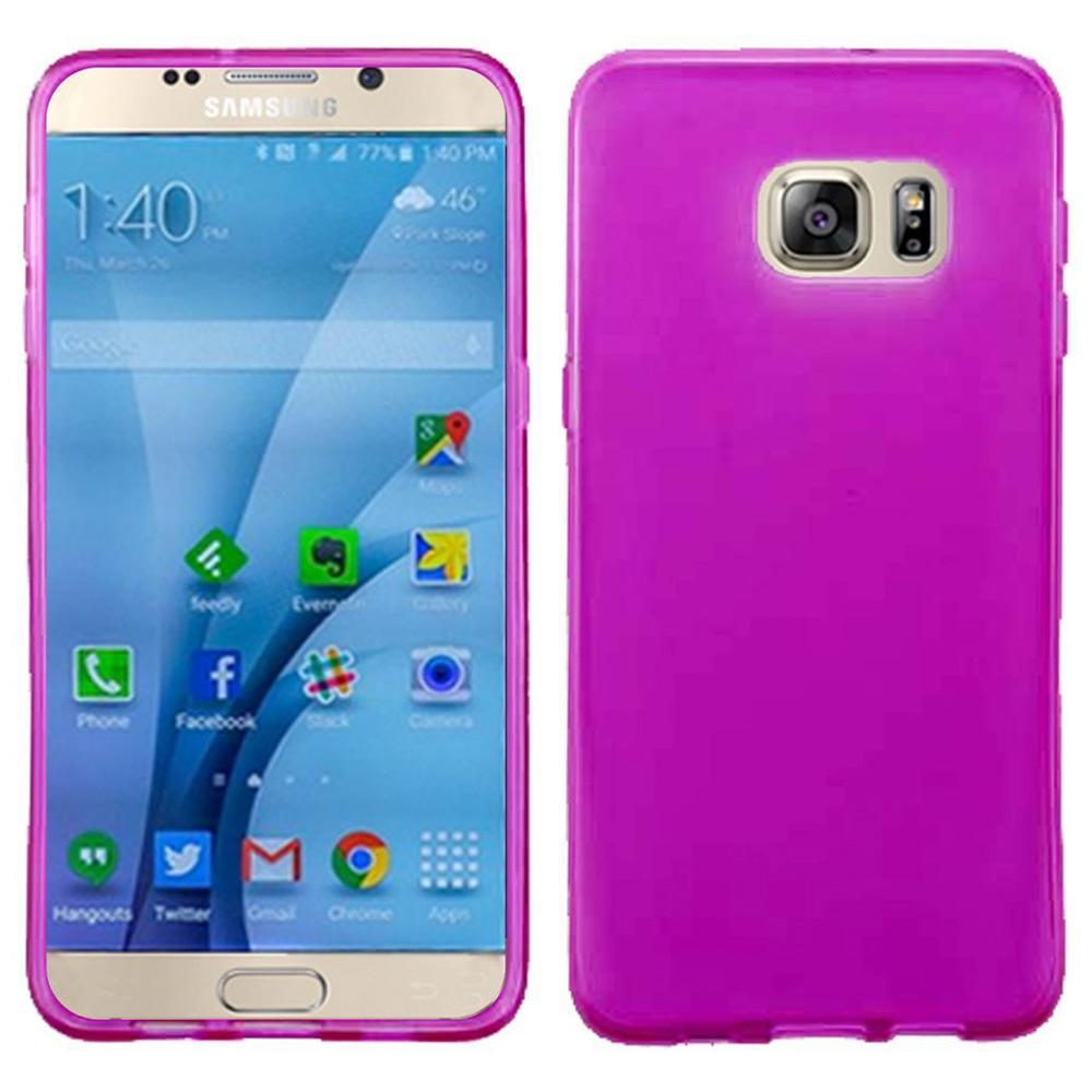 Frosted Matte TPU Case - Hot Pink for Samsung GALAXY S7 SM-G930F