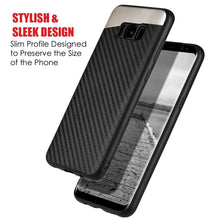 Load image into Gallery viewer, Carbon Metallic Fusion Candy TPU Case With Car Mount System - Black for Samsung Galaxy S8