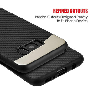 Carbon Metallic Fusion Candy TPU Case With Car Mount System - Black for Samsung Galaxy S8